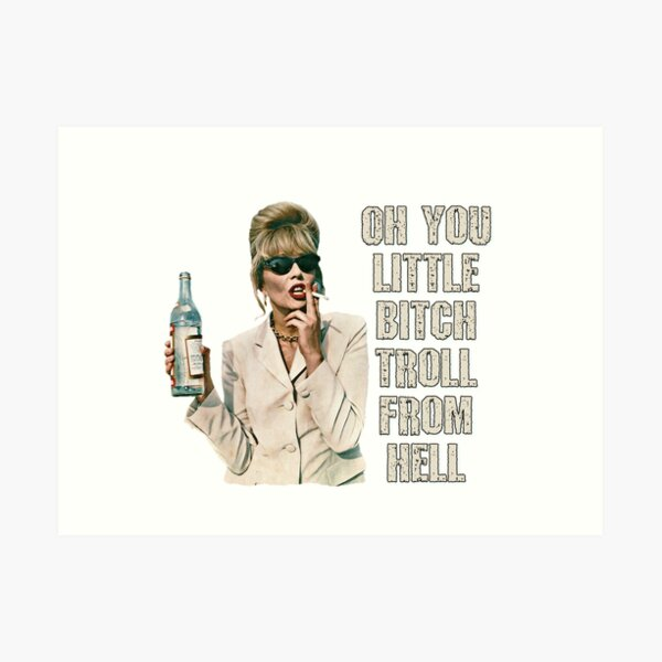 Absolutely Fabulous- Patsy Art Print