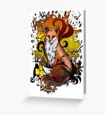 Outdoor Fox Greeting Card