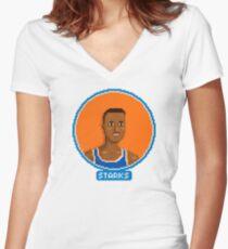 John Women's Fitted V-Neck T-Shirt