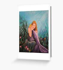 Mermaid Under The Sea Greeting Card