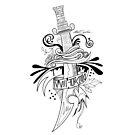 Symbolic Sword - Black & White by Adam Santana
