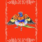 Lovely Lorikeet pirouettes in a tutu by didielicious