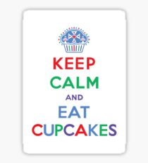 Keep Calm and Eat Cupcakes- primary Sticker