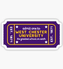 West Chester University - Style 27 Sticker