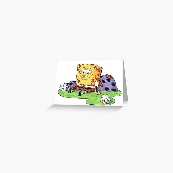 Sad Spongebob Stationery Redbubble