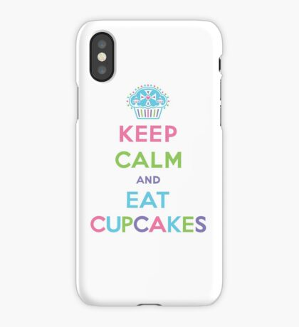 Keep Calm and Eat Cupcakes - pastel iPhone Case