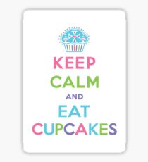 Keep Calm and Eat Cupcakes - pastel Sticker