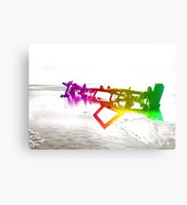 Wrecked Coloured Canvas Print
