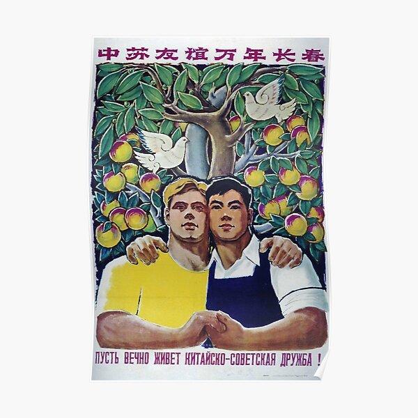 Cooperación chino-soviética Póster