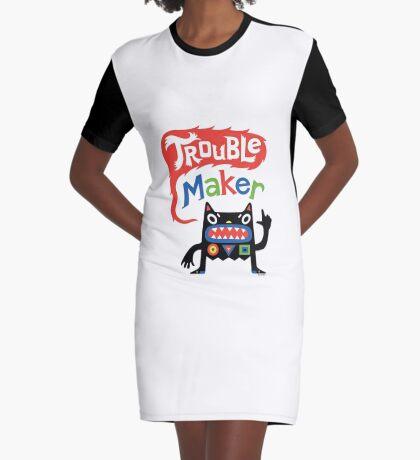 Trouble Maker V - black monster Graphic T-Shirt Dress