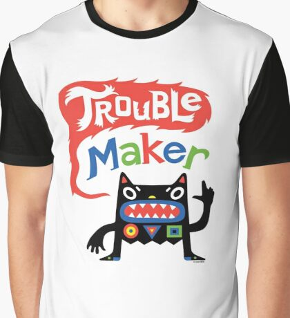 Trouble Maker V - black monster Graphic T-Shirt
