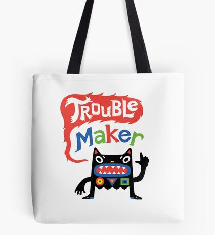Trouble Maker V - black monster Tote Bag