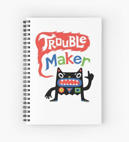 Trouble Maker V - black monster Spiral Notebook