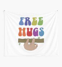 Free Hugs Sloth Wall Tapestry