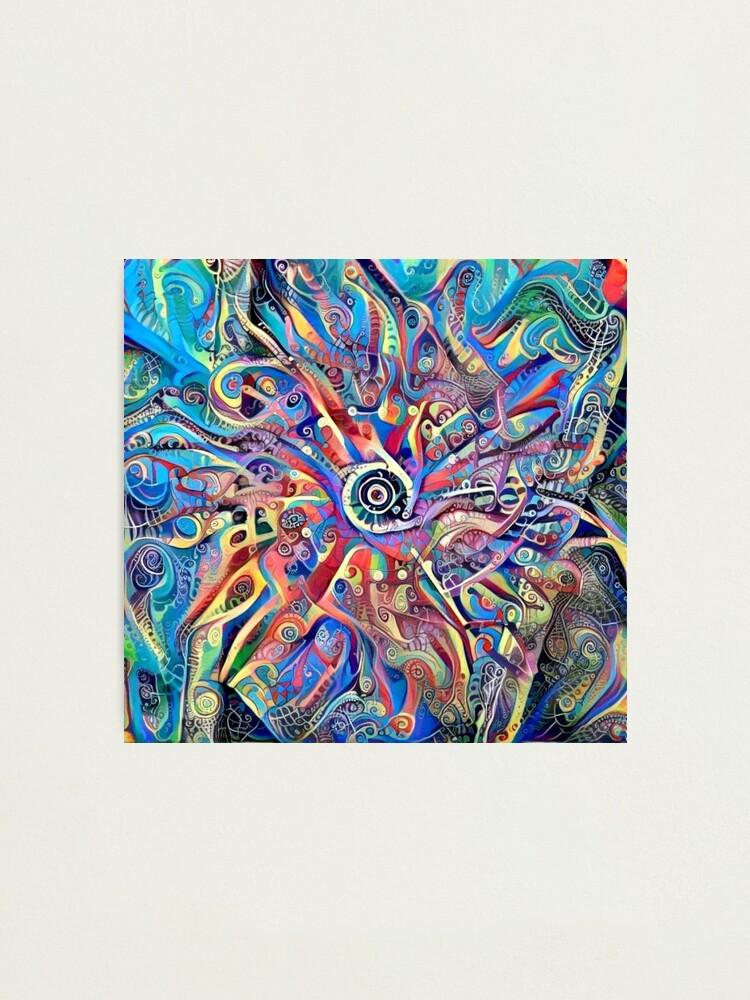 "Alternate view of Mandala-Kaleidoscope-""Psychedelic Mandala"" Photographic Print"