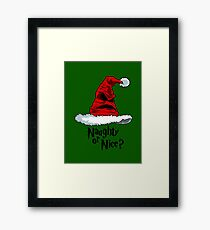 Naughty or Nice? Framed Print