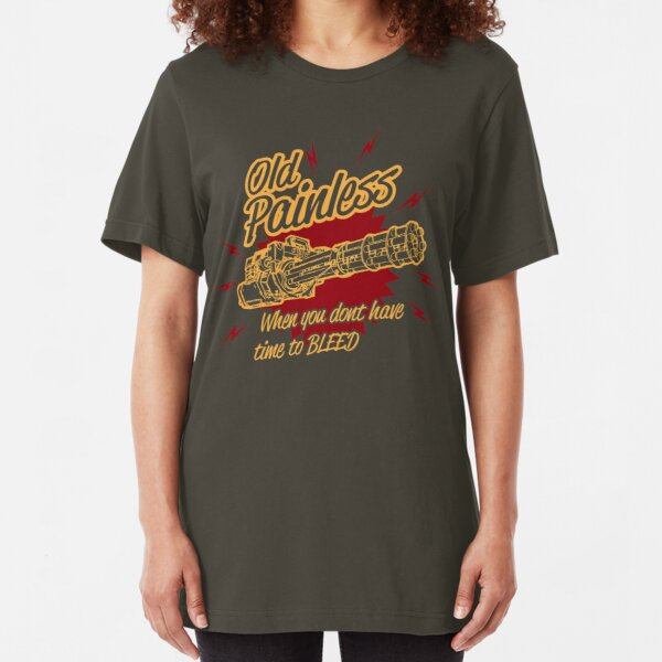 Old Painless - When you don't have time to bleed! Slim Fit T-Shirt