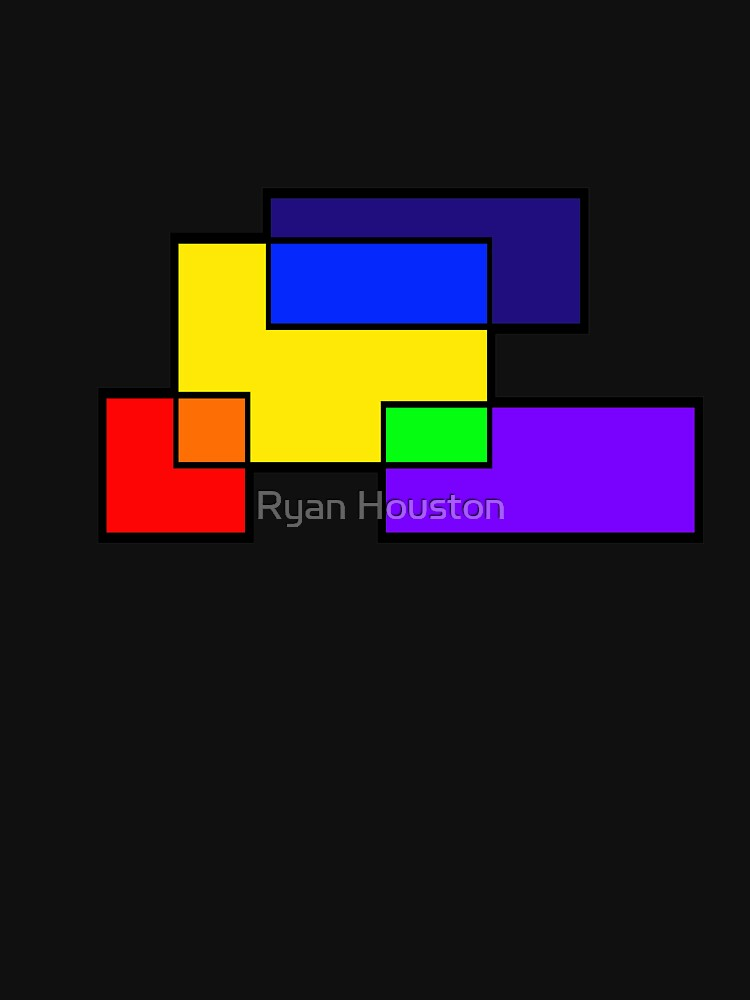 Rectangle Rainbow Colors by photoforyou
