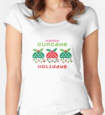 Cupcake Holidays Women's Fitted Scoop T-Shirt