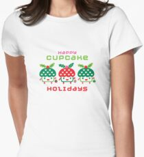 Cupcake Holidays Womens Fitted T-Shirt