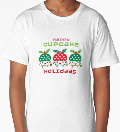 Cupcake Holidays Long T-Shirt