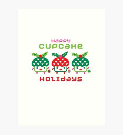 Cupcake Holidays Art Print