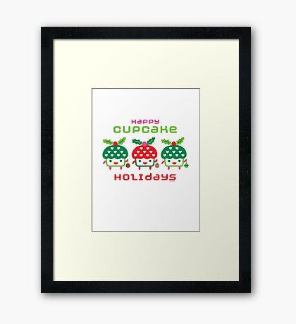 Cupcake Holidays Framed Print