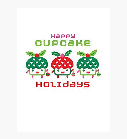 Cupcake Holidays Photographic Print
