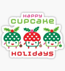 Cupcake Holidays Sticker