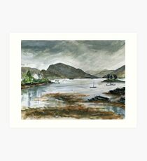Rainy day in Plockton Art Print