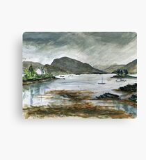 Rainy day in Plockton Canvas Print
