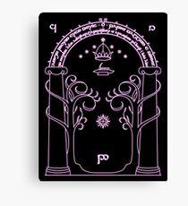 Speak Friend and Enter - Pink Canvas Print