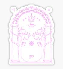 Speak Friend and Enter - Pink Sticker