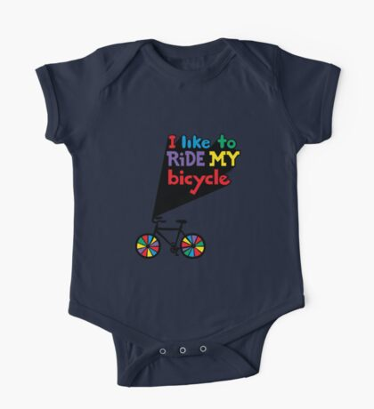 I like to ride my bicycle  Kids Clothes
