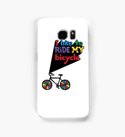 I like to ride my bicycle  Samsung Galaxy Case/Skin