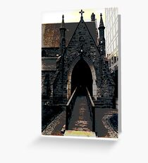 A TORONTO CHURCH, BLOOR STREET  Greeting Card