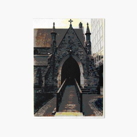 A TORONTO CHURCH, BLOOR STREET  by REKHA IYERN FE RECORDS CANADA Art Board Print