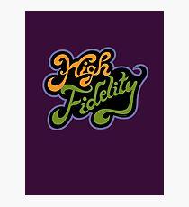 High Fidelity Photographic Print