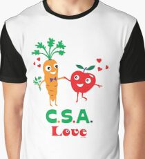 CSA Love - light (Community Supported Agriculture) Graphic T-Shirt