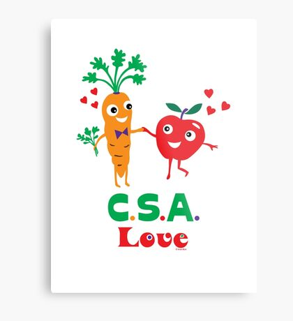 CSA Love - light (Community Supported Agriculture) Metal Print