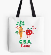 CSA Love - light (Community Supported Agriculture) Tote Bag