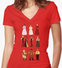 Great Comet Women's Fitted V-Neck T-Shirt