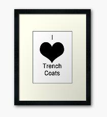 I Heart Tench Coats - Heathers Framed Print