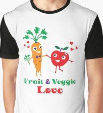 Fruit and Veggie Love Graphic T-Shirt