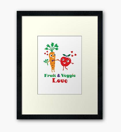 Fruit and Veggie Love Framed Print