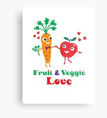 Fruit and Veggie Love Metal Print