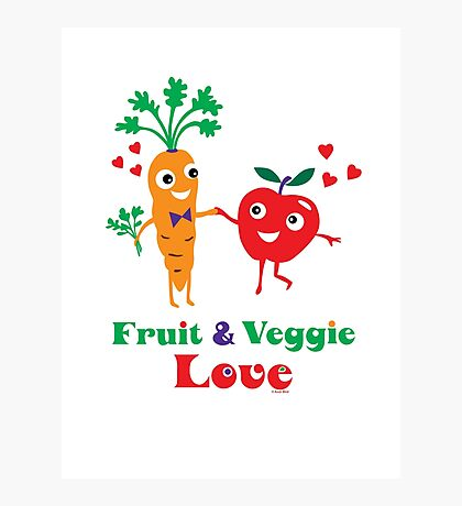 Fruit and Veggie Love Photographic Print