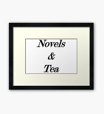 novels and tea Framed Print