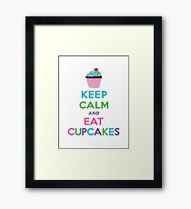 Keep Calm and Eat Cupcakes ll Framed Print