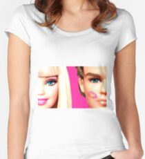 BARBIE AND KEN: KISS Women's Fitted Scoop T-Shirt